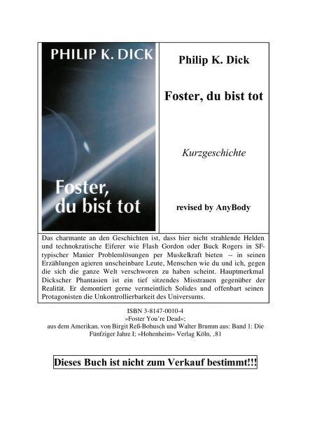 Science-Fiction-Anthologie by hrsg. von Hans Joachim Alpers ...